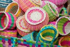 Bamboo baskets Royalty Free Stock Image
