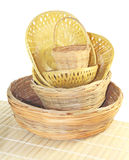 Bamboo baskets Royalty Free Stock Photography