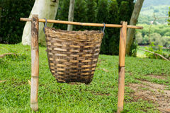 Bamboo baskets Royalty Free Stock Photo