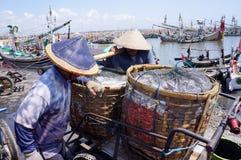 Bamboo baskets Stock Image