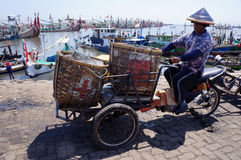 Bamboo baskets Stock Images
