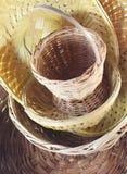 Bamboo baskets Royalty Free Stock Photo