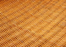 Bamboo basketwork closeup on old chair Royalty Free Stock Photos