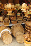 Bamboo basketwork product. Stock Image