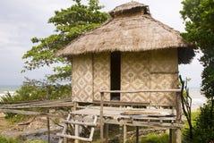 Bamboo beach hut stock images