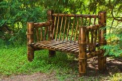 Bamboo bench Stock Photo
