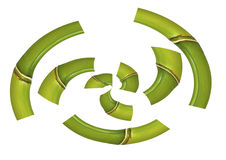 Bamboo in bent parts Stock Image