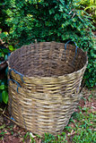 Bamboo bin Stock Photo