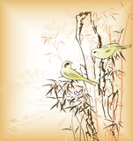Bamboo and Birds Stock Photo