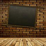 Bamboo blackboard Stock Image
