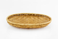 Bamboo blank basket on white background Stock Photo