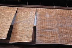 Bamboo blind Stock Images