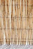 Bamboo blind Lizenzfreie Stockfotos