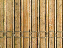 Bamboo blinds Stock Image