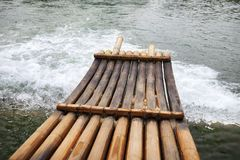 Bamboo boat Royalty Free Stock Images