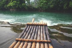 Bamboo boat Stock Photography