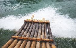 Bamboo boat Royalty Free Stock Photography