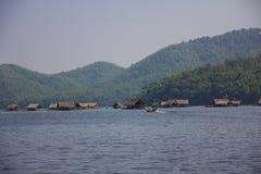 Bamboo boat Stock Photography