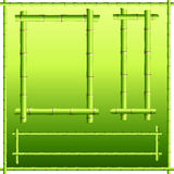 Bamboo border elements Stock Photo