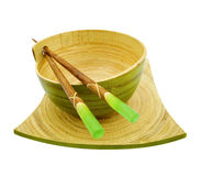 Bamboo bowl Royalty Free Stock Photography