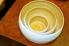 Bamboo bowls Royalty Free Stock Photo