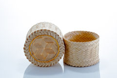 Bamboo box. For keep sticky rice, normal use in Norther and North East of Thailand Royalty Free Stock Images