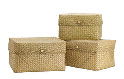 Bamboo boxes Stock Photo