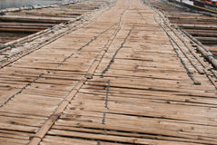 Bamboo bridge across the river in Sangkhlaburi kanchanaburi Prov. Ince Asia Thailand Stock Images