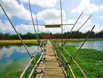 Bamboo bridge, countryside of Hoi An, Vietnam Royalty Free Stock Photo