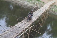 Bamboo bridge Stock Images