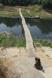 Bamboo bridge Royalty Free Stock Photography