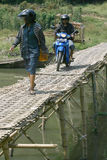 Bamboo bridge Royalty Free Stock Image