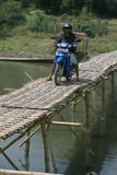 Bamboo bridge Royalty Free Stock Images
