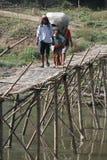 Bamboo bridge Royalty Free Stock Images