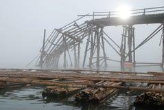 Bamboo bridge Stock Photography