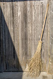 Bamboo broom Royalty Free Stock Photo