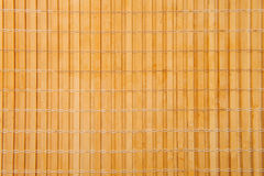 Bamboo brown straw mat Royalty Free Stock Images