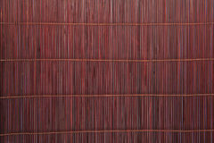 Bamboo brown straw mat Royalty Free Stock Image