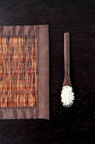 Bamboo brown straw mat Royalty Free Stock Photography
