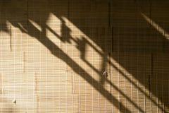 Bamboo brown straw mat Stock Photo