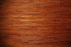 Bamboo brown straw mat as texture background. Royalty Free Stock Photography