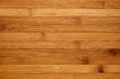 Bamboo brown wood texture, horizontal plank, top view, closeup. Royalty Free Stock Images