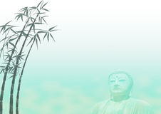 Bamboo Buddha Landscape Template Stock Photo