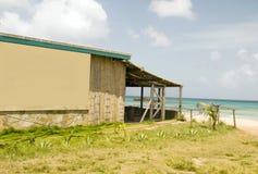 Bamboo building Brig Bay Corn Island. Bamboo and stone building beachfront Caribbean Sea Brig Bay Corn Island Nicaragua royalty free stock photo