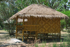 Bamboo bungalows in Thailand Royalty Free Stock Photo