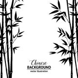 Bamboo bush over white Royalty Free Stock Photography
