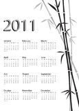 Bamboo calendar black and white Stock Photos