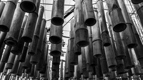 Bamboo candelabrum. Is  Thailand handmade Royalty Free Stock Images
