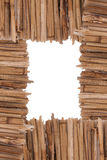 Bamboo cane frame. Photo of a bamboo cane frame Royalty Free Stock Photos