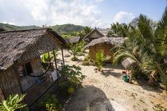 Bamboo cane huts Royalty Free Stock Image